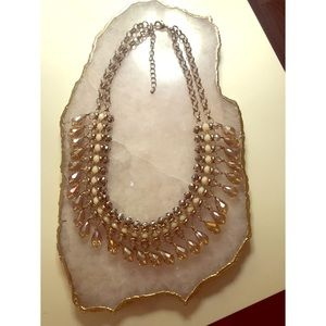 Macy's Opalized Bead Statement Necklace
